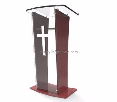 Church furniture suppliers customized perspex pulpit and lectern furniture AP-659