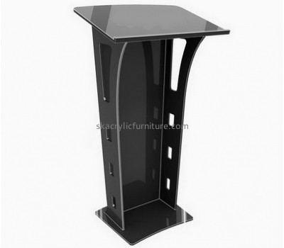 Wholesale furniture manufacturers customized black perspex lectern AP-686