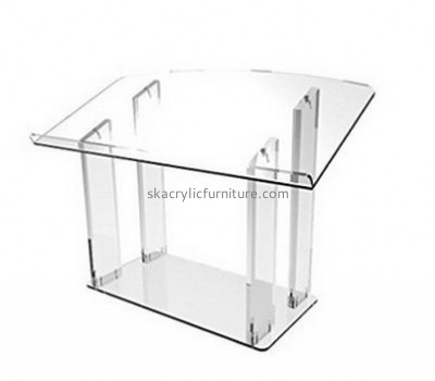 Perspex furniture suppliers customized acrylic contemporary church podiums AP-716