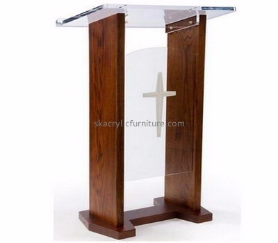Wholesale furniture manufacturers customized acrylic pulpit for church AP-787