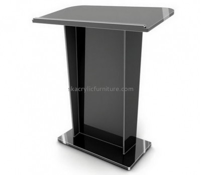Supplier furniture customized black acrylic lectern AP-818