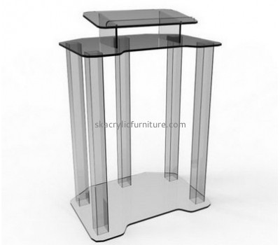 Lucite furniture manufacturers custom clear acrylic pulpit podium furniture AP-1029