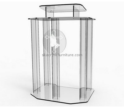 Acrylic products manufacturer custom plastic prototype fabrication church podium AP-1039