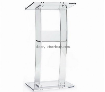 Quality furniture manufacturers custom acrylic plexiglass modern pulpit furniture AP-1054