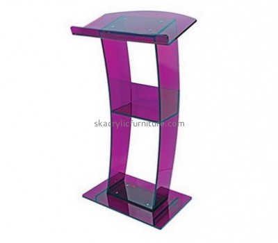 Acrylic furniture manufacturers custom perspex fabrication floor podium AP-1056