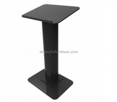 Acrylic products manufacturer custom perspex fabrication black lectern AP-1083