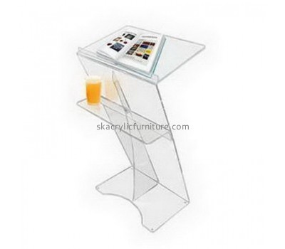 Acrylic items manufacturers custom design plexiglass  cheap lecterns for sale AP-1087