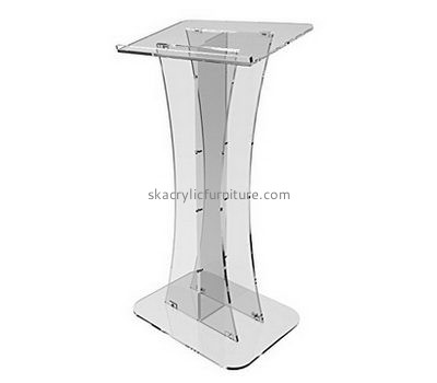 Plastic manufacturing companies custom clear acrylic podium furniture AP-1092