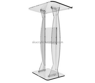Furniture manufacturers custom plastic acrylic podium furniture AP-1137