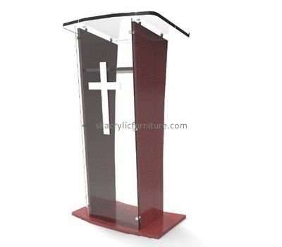 Complete plastic fabricators custom acrylic pulpit podiums AP-1180