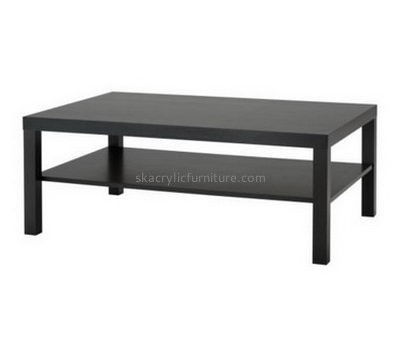 Customized black acrylic long narrow coffee table AT-204