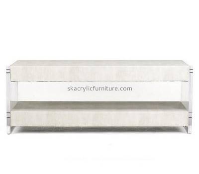 Bespoke acrylic end tables with storage AT-222