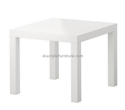Bespoke square white perspex table AT-263