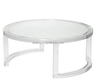 Bespoke clear round lucite table AT-272