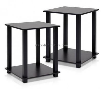 Customize black acrylic corner side table AT-311