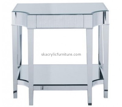 Customize plexiglass coffee table with storage AT-389