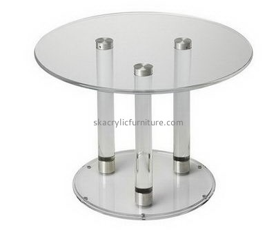 Customize acrylic small round breakfast table AT-400