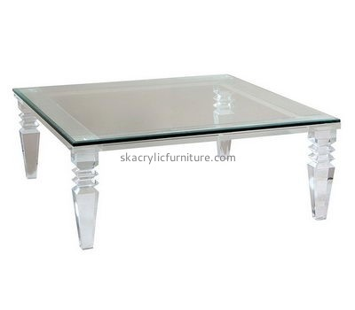 Customize lucite low modern coffee table AT-413