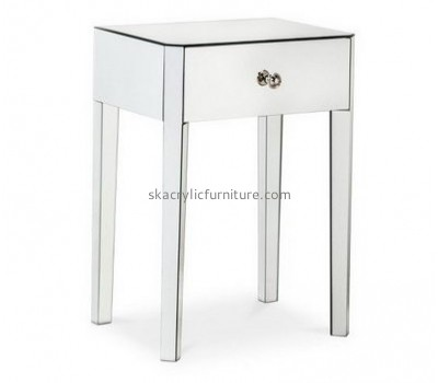 Customize acrylic narrow side table with drawers AT-452