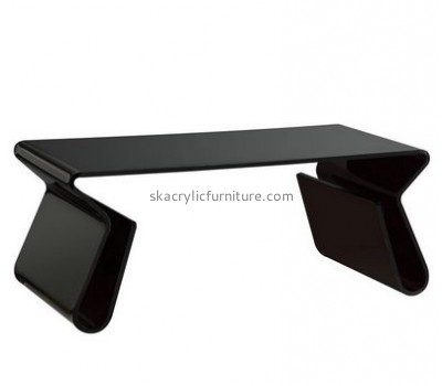 Customize black modern coffee table with storage AT-486