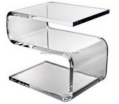 Customize perspex modern coffee table with shelf AT-517