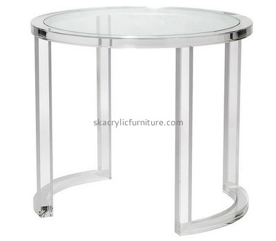 Customize acrylic small white round dining table AT-523