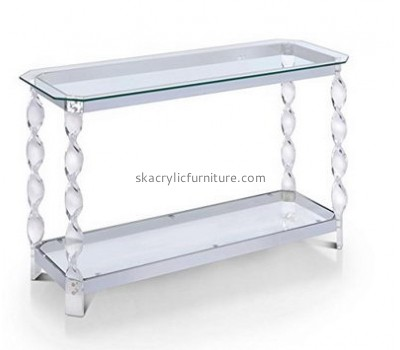 Customize lucite side table with storage AT-533