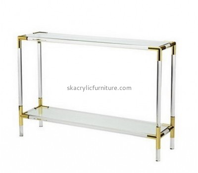 Customize plexiglass side table with storage AT-566