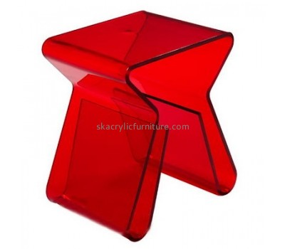 Customize acrylic coffee table with shelf AT-576