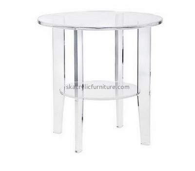 Customize acrylic round coffee table with storage AT-583
