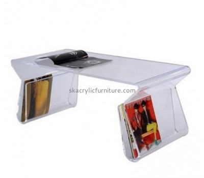 Customize plexiglass small coffee table with storage AT-616
