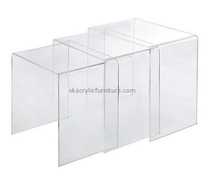 Customize lucite coffee table and side table AT-623