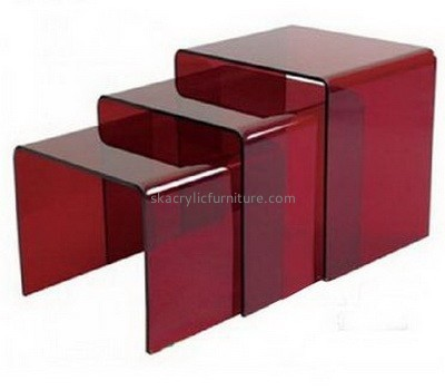Lucite coffee table side table set AT-655