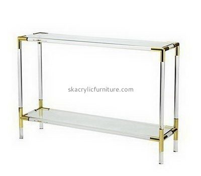 Narrow acrylic side table with storage AT-700