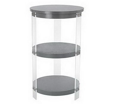 Customize 3 tiered round acrylic side table AT-715