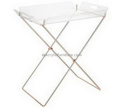 Customize floor standing clear acrylic serving tray AT-714