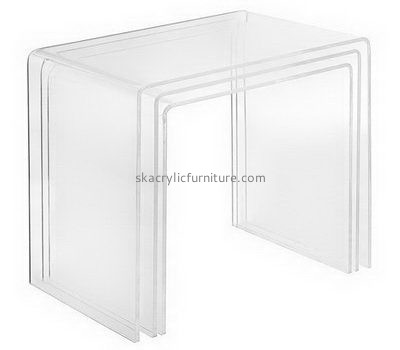 Customize clear acrylic side coffee table AT-717