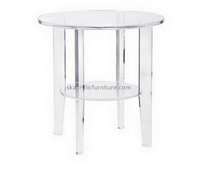 Customize acrylic round coffee table with storage AT-716