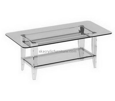 Customize clear acrylic living room table with storage AT-723