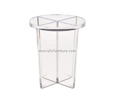 Custom round clear acrylic coffee table AT-743