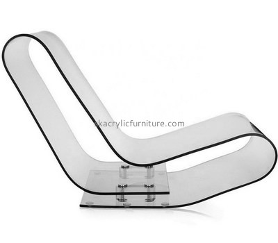 Custom clear acrylic lounge chair AC-029