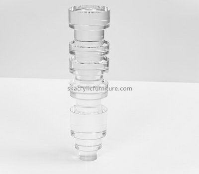 Wholesale acrylic chair legs parts recycled plastic bench legs plastic legs for sofas AL-015
