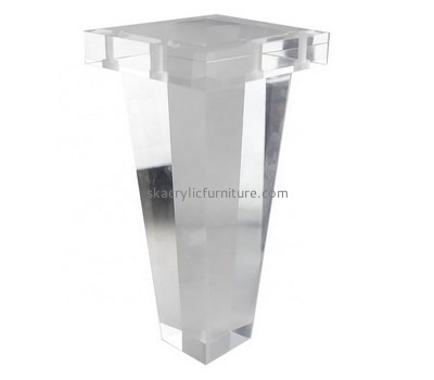 Custom clear acrylic table leg AL-023