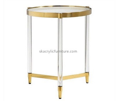 Custom round acrylic side table AT-762